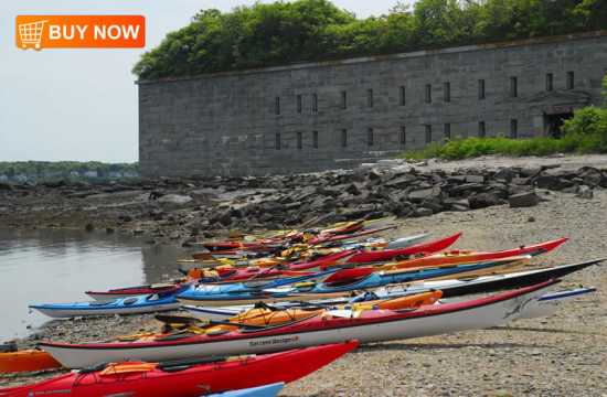Kayaks at Fort Gorges